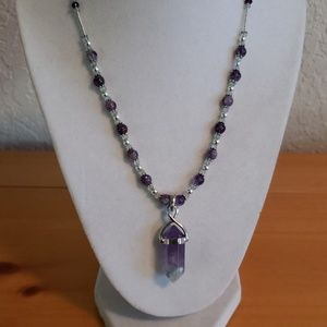 Jewelry - Amethyst, Apatite & Florite Necklace